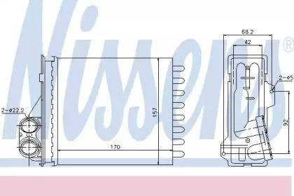 Теплообменник, отопление салона 76512 NISSENS