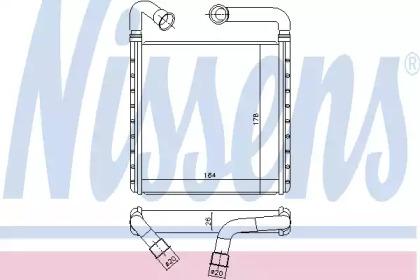 Теплообменник, отопление салона 73943 NISSENS