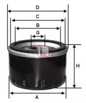 Масляный фильтр S 5030 R SOFIMA