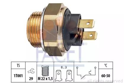 Термовыключатель, вентилятор радиатора 7.5034 FACET