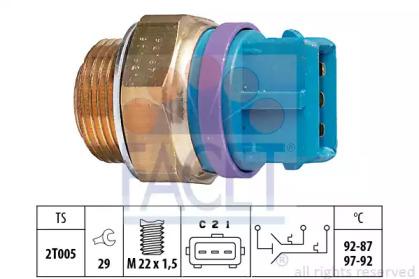 Термовыключатель, вентилятор радиатора 7.5629 FACET