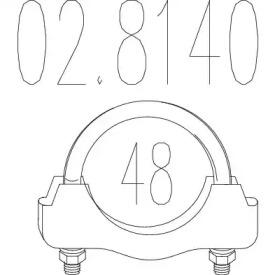 Соединительные элементы, система выпуска 02.8140 MTS