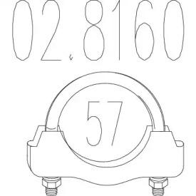 Соединительные элементы, система выпуска 02.8160 MTS
