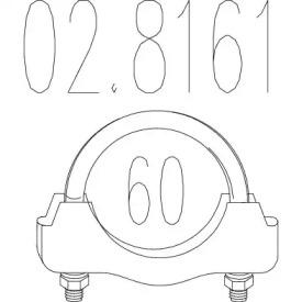 Соединительные элементы, система выпуска 02.8161 MTS