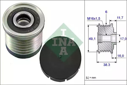 Механизм свободного хода генератора 535 0030 10 INA