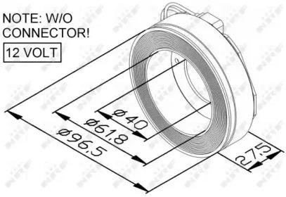 Катушка, электромагнитное сцепление - копрессор 38447 NRF