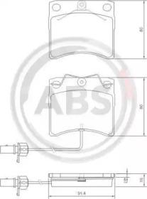 Комплект тормозных колодок, дисковый тормоз 37144 A.B.S.
