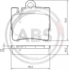 Комплект тормозных колодок, дисковый тормоз 37150 A.B.S.