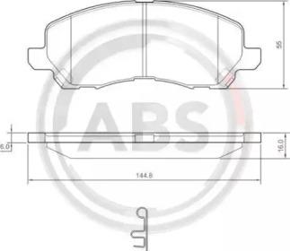 Комплект тормозных колодок, дисковый тормоз 37202 A.B.S.