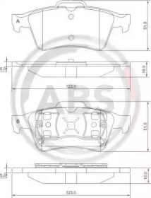 Комплект тормозных колодок, дисковый тормоз 37216 A.B.S.