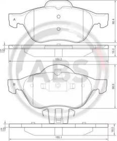 Комплект тормозных колодок, дисковый тормоз 37217 A.B.S.