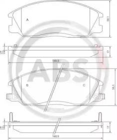 Комплект тормозных колодок, дисковый тормоз 37242 A.B.S.