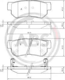 Комплект тормозных колодок, дисковый тормоз 37247 A.B.S.