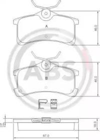 Комплект тормозных колодок, дисковый тормоз 37270 A.B.S.