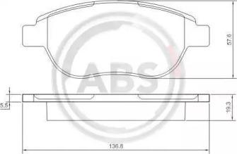 Комплект тормозных колодок, дисковый тормоз 37273 A.B.S.