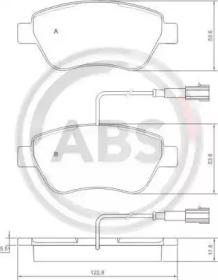 Комплект тормозных колодок, дисковый тормоз 37280 A.B.S.
