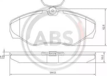 Комплект тормозных колодок, дисковый тормоз 37287 A.B.S.