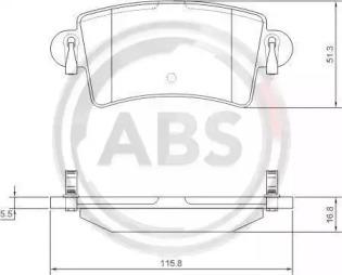 Комплект тормозных колодок, дисковый тормоз 37289 A.B.S.