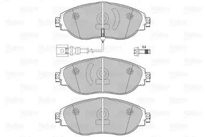 Комплект тормозных колодок, дисковый тормоз 601286 VALEO
