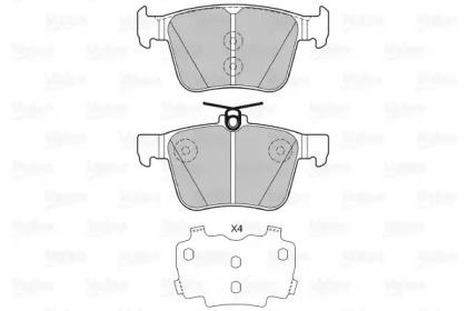 Комплект тормозных колодок, дисковый тормоз 601425 VALEO