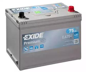 Стартерная аккумуляторная батарея EA754 EXIDE