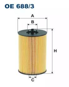 Масляный фильтр OE688/3 FILTRON