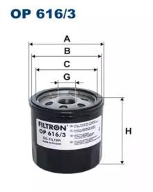 Масляный фильтр OP616/3 FILTRON