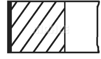 Комплект поршневых колец 028 RS 10112 0N0 MAHLE ORIGINAL