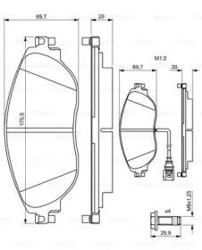 Комплект тормозных колодок, дисковый тормоз 0 986 494 704 BOSCH