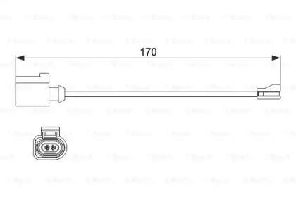 Сигнализатор, износ тормозных колодок 1 987 474 512 BOSCH