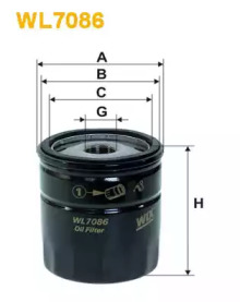 Масляный фильтр WL7086 WIX FILTERS