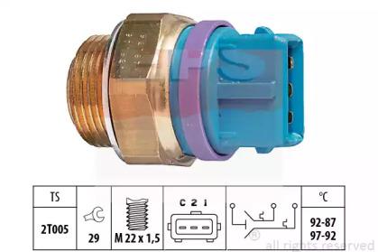 Термовыключатель, вентилятор радиатора 1.850.629 EPS