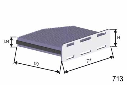 Фильтр, воздух во внутренном пространстве HB166C MISFAT