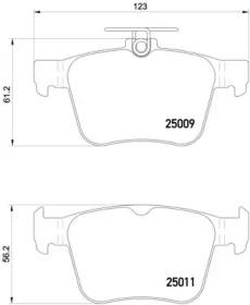 Комплект тормозных колодок, дисковый тормоз P 85 124 BREMBO